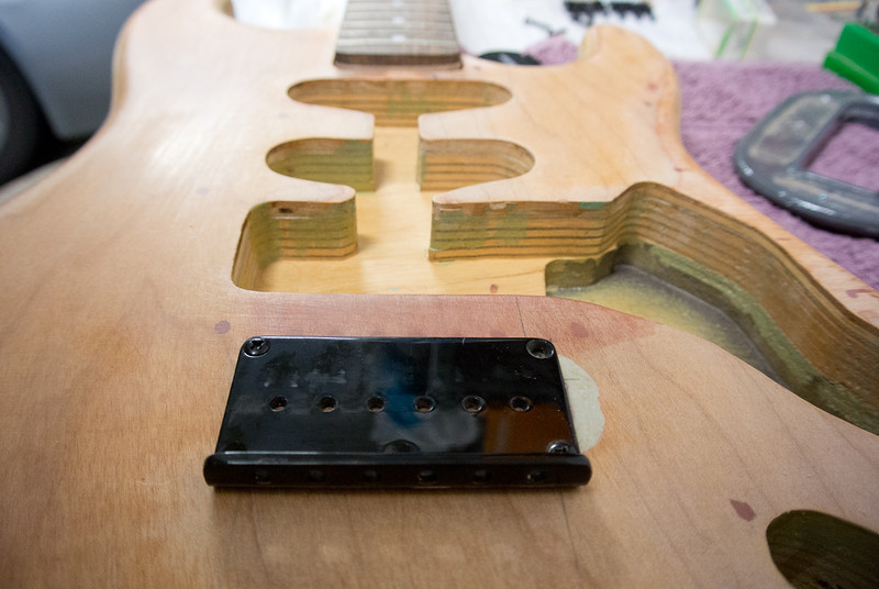 Build Log: Mondrian inspired Strat, Hardtail conversion and